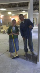 Mark and I in the midst of the remodeling