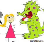 Monster-fighting-hurt-operation-wife