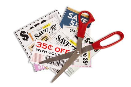 Coupons With Scissors XXXL